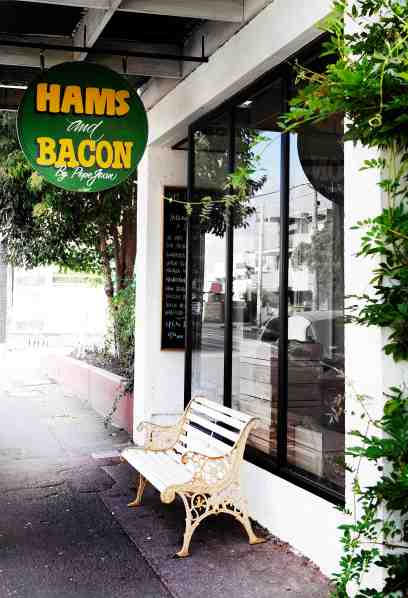 Hams and Bacon outside (credit Rochelle Seator)