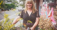 Emma Dean foraging with bike