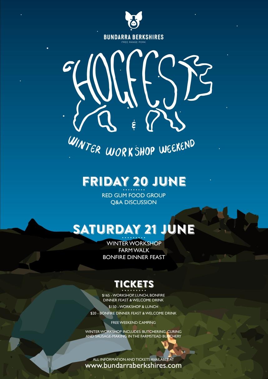 Bundarra Berkshires - Hogfest poster