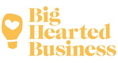 big hearted business logo